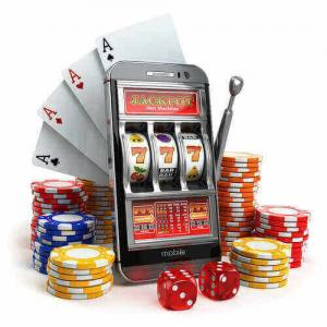 slots, cards and casino chips